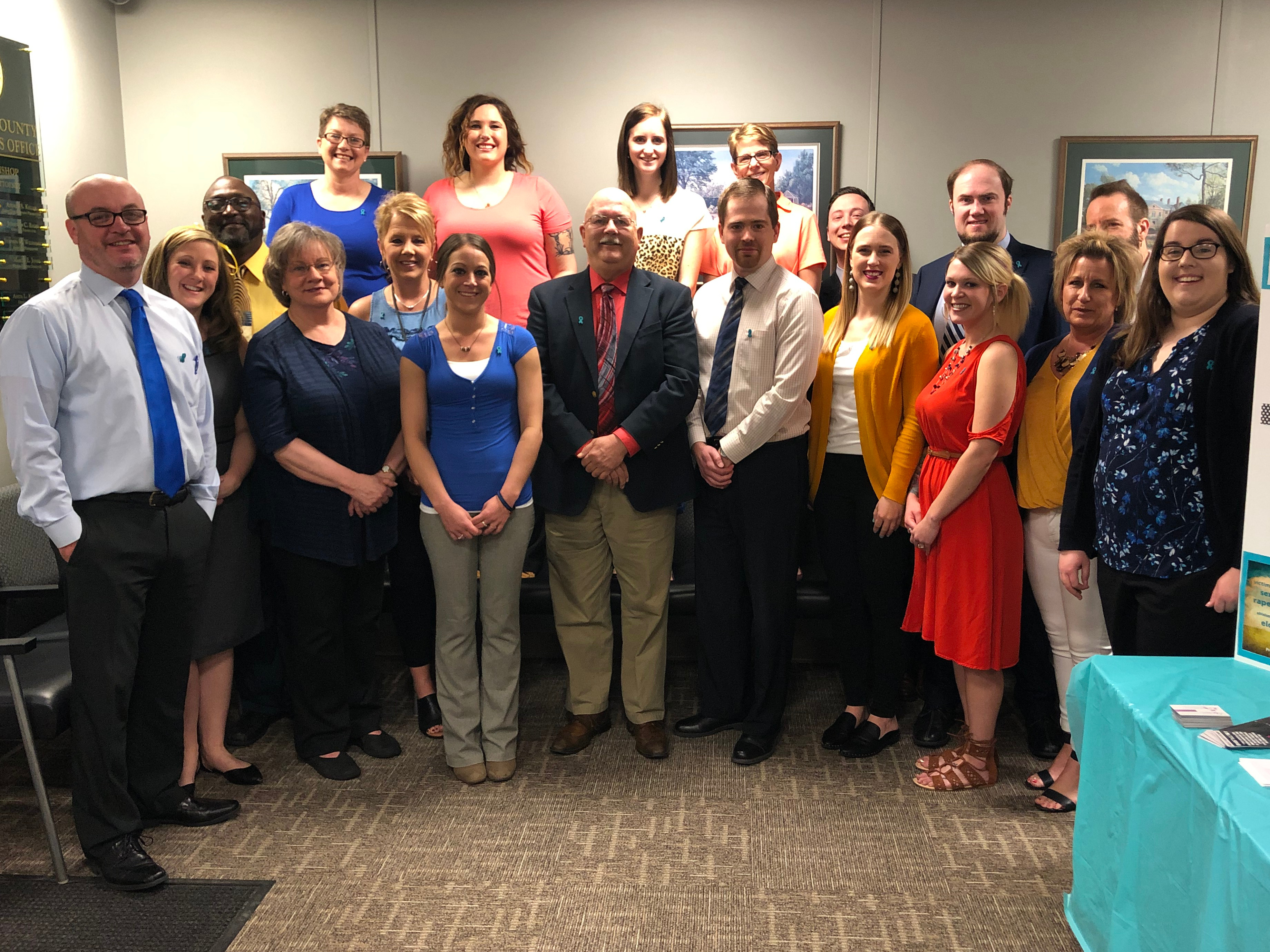 Gary D. Bishop and Staff wear colors of NCVRW 2019